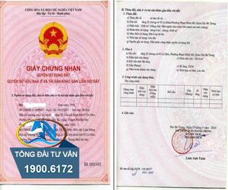 cấp giấy chứng nhận khi sử dụng đất