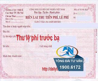Nợ lệ phí trước bạ