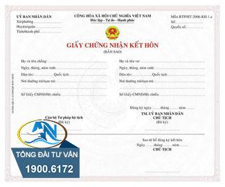 Trích lục giấy đăng ký kết hôn