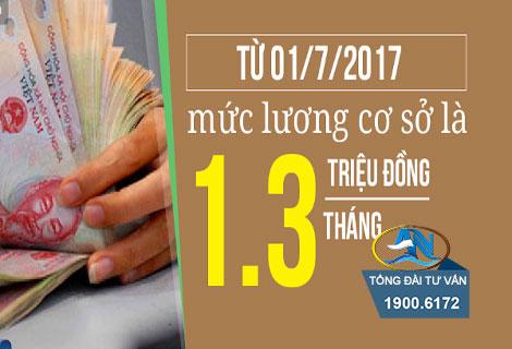 Đối tượng được tăng lương từ ngày 1/7/2017