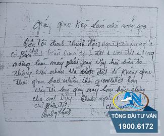 đất bán bằng giấy tờ viết tay