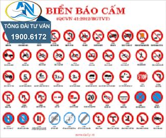 Biển báo cấm dừng xe và đỗ xe P.130