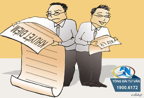 Tiến hành việc xử lý kỷ luật lao động