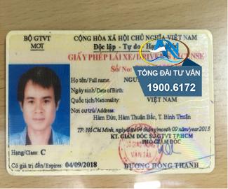 tạm giữ giấy phép lái xe