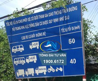 tốc độ cho phép của các loại xe ngoài khu vực