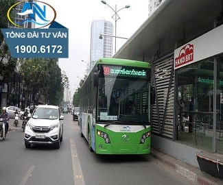 Đi vào làn xe buýt nhanh BRT