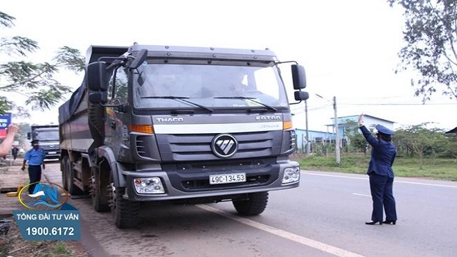 chở hàng quá trọng tải thiết kế 56%
