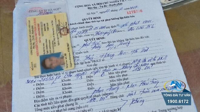 không cấp giấy vận chuyển cho lái xe