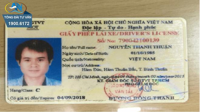 nâng hạng giấy phép lái xe