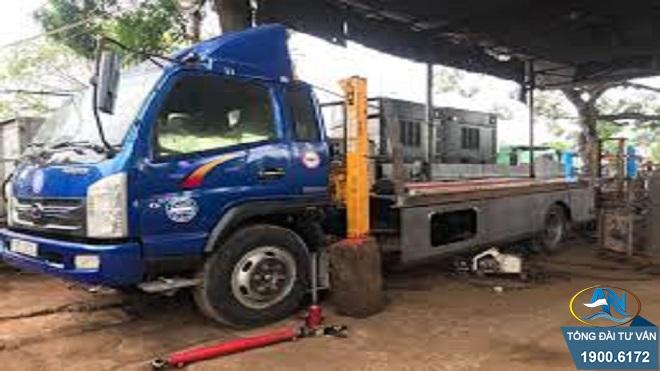 Xe ô tô 1,5 tấn muốn hạ tải