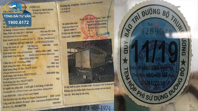 Hồ sơ xin cấp lại tem kiểm định