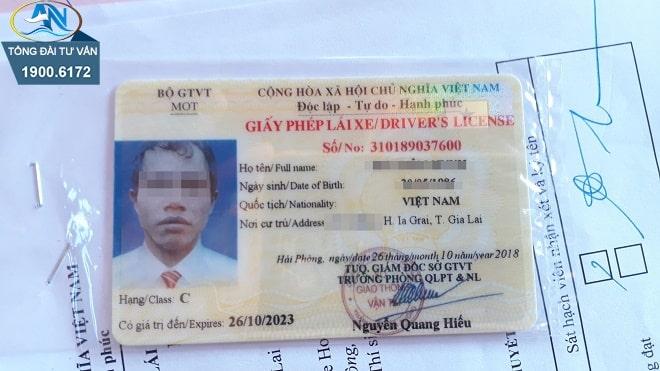 độ tuổi tối thiểu được cấp GPLX hạng C