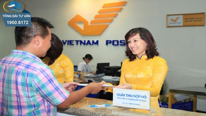 nộp phạt giao thông qua đường bưu điện