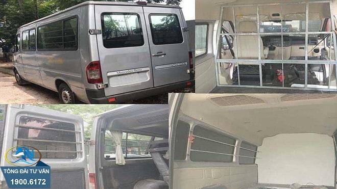 Cải tạo xe 16 chỗ thành xe tải VAN