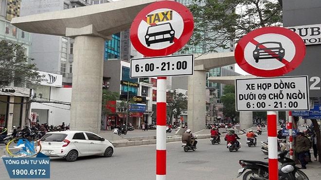điều khiển ô tô đi vào đường cấm