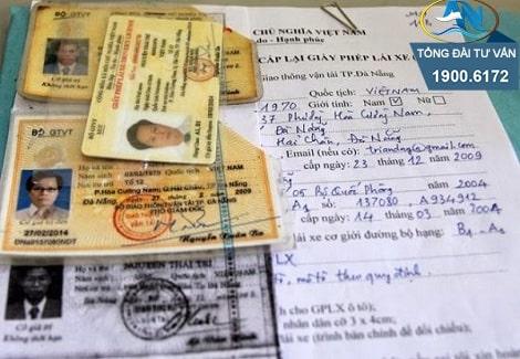 hồ sơ gốc khi cấp lại GPLX hạng A1