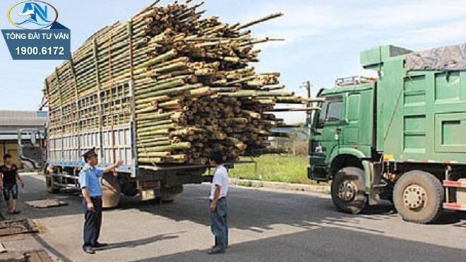 điều khiển xe ô tô tải chở hàng quá chiều cao
